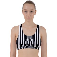 Black Stripes Endless Window Back Weave Sports Bra