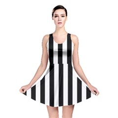 Black And White Stripes Reversible Skater Dress