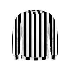 Black And White Stripes Kids  Sweatshirt