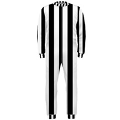 Black And White Stripes Onepiece Jumpsuit (men)