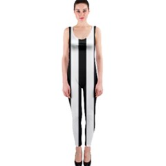 Black And White Stripes Onepiece Catsuit