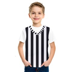 Black And White Stripes Kids  Sportswear