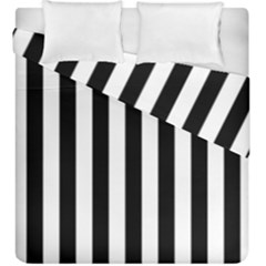 Black And White Stripes Duvet Cover Double Side (king Size)