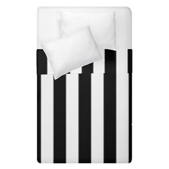 Black And White Stripes Duvet Cover Double Side (single Size)