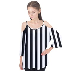 Black And White Stripes Flutter Tees