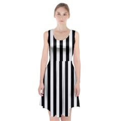 Black And White Stripes Racerback Midi Dress