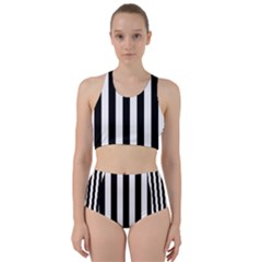 Black And White Stripes Bikini Swimsuit Spa Swimsuit