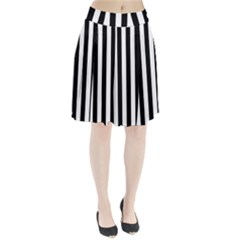 Black And White Stripes Pleated Skirt