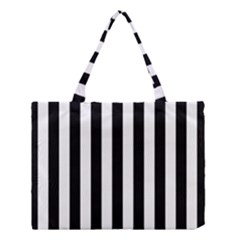 Black And White Stripes Medium Tote Bag