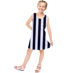 Black And White Stripes Kids  Tunic Dress