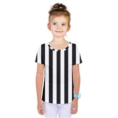 Black And White Stripes Kids  One Piece Tee