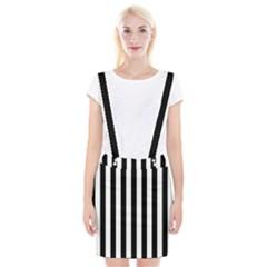 Black And White Stripes Braces Suspender Skirt