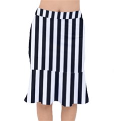 Black And White Stripes Mermaid Skirt