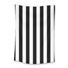 Black And White Stripes Small Tapestry