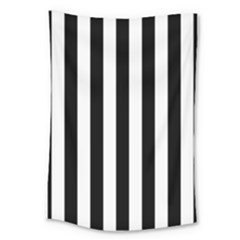 Black And White Stripes Large Tapestry