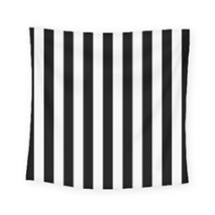 Black And White Stripes Square Tapestry (small)