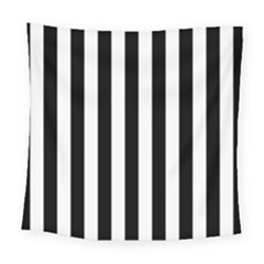 Black And White Stripes Square Tapestry (large)