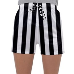 Black And White Stripes Sleepwear Shorts