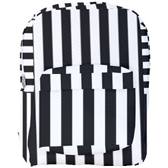Black And White Stripes Full Print Backpack
