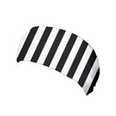 Black And White Stripes Yoga Headband