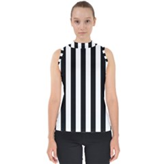 Black And White Stripes Shell Top