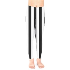 Black And White Stripes Kids  Legging