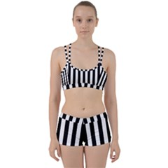 Black And White Stripes Women s Sports Set