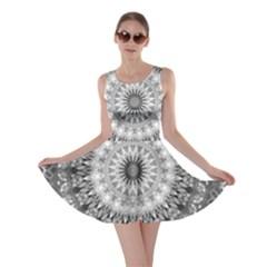 Feeling Softly Black White Mandala Skater Dress