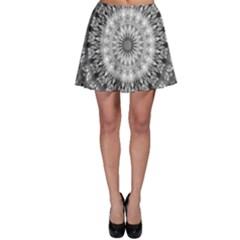 Feeling Softly Black White Mandala Skater Skirt