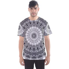 Feeling Softly Black White Mandala Men s Sports Mesh Tee