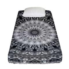 Feeling Softly Black White Mandala Fitted Sheet (single Size)