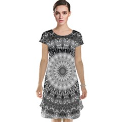 Feeling Softly Black White Mandala Cap Sleeve Nightdress