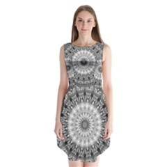 Feeling Softly Black White Mandala Sleeveless Chiffon Dress