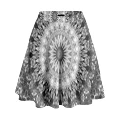 Feeling Softly Black White Mandala High Waist Skirt