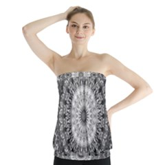 Feeling Softly Black White Mandala Strapless Top