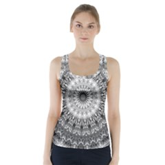 Feeling Softly Black White Mandala Racer Back Sports Top