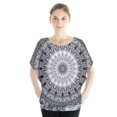 Feeling Softly Black White Mandala Blouse