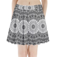 Feeling Softly Black White Mandala Pleated Mini Skirt