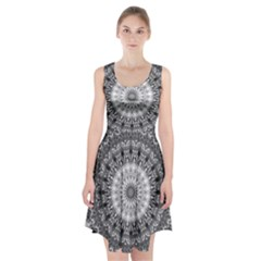 Feeling Softly Black White Mandala Racerback Midi Dress