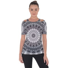 Feeling Softly Black White Mandala Short Sleeve Top