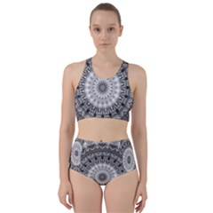 Feeling Softly Black White Mandala Bikini Swimsuit Spa Swimsuit