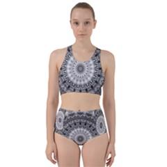 Feeling Softly Black White Mandala Bikini Swimsuit Spa Swimsuit