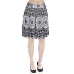 Feeling Softly Black White Mandala Pleated Skirt