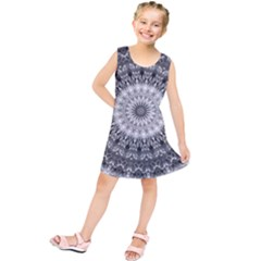 Feeling Softly Black White Mandala Kids  Tunic Dress