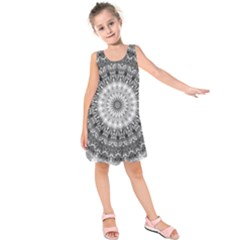 Feeling Softly Black White Mandala Kids  Sleeveless Dress