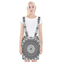 Feeling Softly Black White Mandala Braces Suspender Skirt