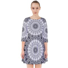 Feeling Softly Black White Mandala Smock Dress