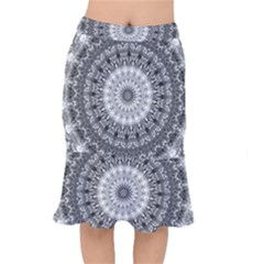 Feeling Softly Black White Mandala Mermaid Skirt