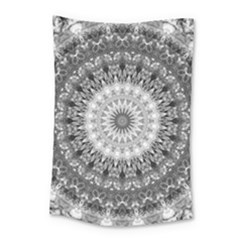 Feeling Softly Black White Mandala Small Tapestry