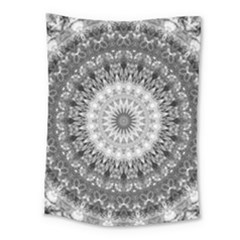 Feeling Softly Black White Mandala Medium Tapestry